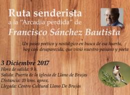 RUTA SENDERISTA A LA ARCADIA PERDIDA DE FRANCISCO SÁNCHEZ BAUTISTA