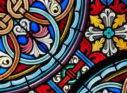 Pintura decorativa sobre cristal