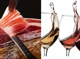 Cata de vinos y corte de jamón